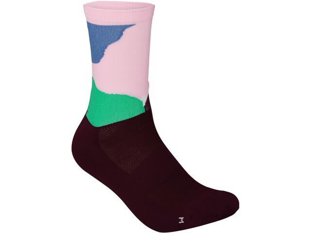 POC Essential Print Socken color splashes multi opal/basalt